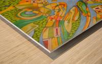 imaginary map of turin Wood print