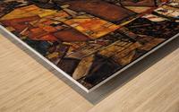 Egon Schiele - Crescent of Houses Wood print