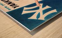 1956 New York Yankees Yearbook Wall Art Wood print