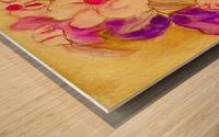 Pansies Wood print