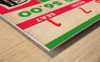 1969 New York Jets vs. Oakland Raiders Ticket Stub  Wood print