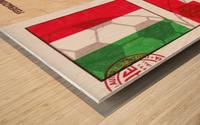 1967_Soccer_Italy vs. Switzerland_Cagliari Stadium_Row One Wood print