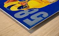 1958 LA Rams Football Yearbook Cover Art Wood print