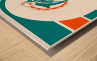 National Football League_Retro Miami Dolphins 1970s Art Reproduction Wood print