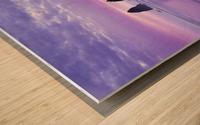 The 1 minute color gap Wood print