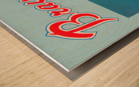 1977 Atlanta Braves Season Ticket Order Form Reproduction Baseball Art Wood print