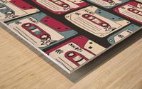 music symbols rock music seamless pattern Wood print