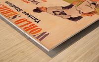 1962 Yankees World Series Program Wood print