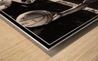 Retro Eighties Michael Jordan Basketball Art Print Wood print
