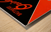 Row One Retro Remix Baltimore Orioles Press Guide Wood print