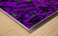 Fluttering purple Wood print
