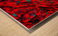 Fluttering red Wood print