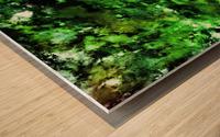 Green deflected Wood print