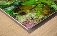 Green scene Wood print