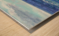 Two Boats In The Ocean Seascape Painting Wood print