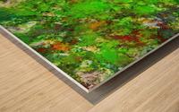 Slippery green rocks Wood print