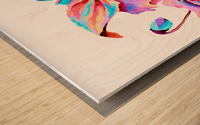 Himalaya Hot Fushia Poppies Wood print