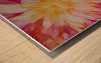 Rainbow Bloom Wood print