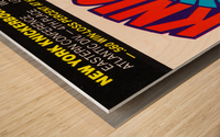1980 New York Knicks Fleer Decal Art Wood print
