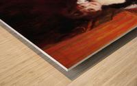 In the Loge by Renoir Wood print