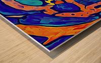 Blue Orange Clash Wood print