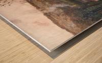 Soleil couchant sur l'Arques a Pequigny Wood print