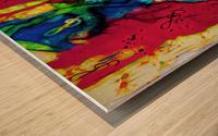 Flute Electrified Wood print