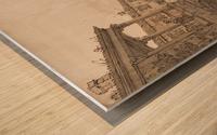 Capriccio of a Venetian Courtyard Wood print
