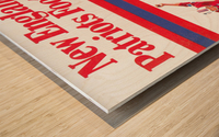 1981 new england patriots vintage nfl poster Wood print