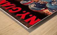 vintage new york giants nfl art poster Wood print