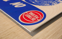 1980 detroit pistons nba basketball poster on the rise Wood print