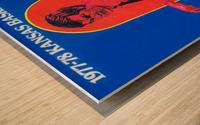 1977 kansas ku jayhawk basketball poster Wood print