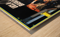 1986 ucla basketball reggie miller poster Wood print