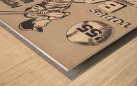 1955 Topps Baseball Bazooka Bubble Gum Vintage Metal Sign Wood print