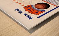 George Kalinsky Art Vintage New York Knicks Poster Reproduction Sports Art Wood print