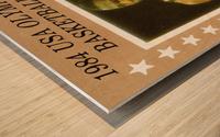 1984 usa olympic basketball gold medal michael jordan wood print Wood print