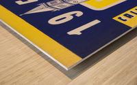 1951 college football season ticket cal bears row 1 Wood print