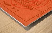 1952 la rams chicago bears nfl ticket art wood print Wood print