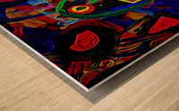 Abstract Bird Wood print
