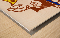 1976 padre power poster san diego Wood print