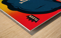 1983 fleer baseball stickers la dodgers ballcap art Wood print