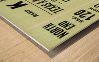 1977 texas am aggies college station football ticket stub wall art Wood print