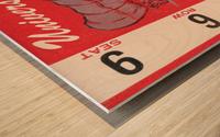 1949 oklahoma sooners football student season ticket art Wood print