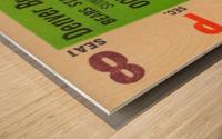 1961 oakland raiders denver broncos afl ticket stub art Wood print
