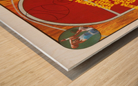 1987 nbc college basketball dick enberg al mcguire nbc sports ad Wood print