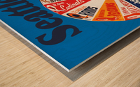 1976 seattle seahawks art Wood print