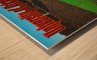 retro arkansas razorbacks football fayetteville razorback stadium photo Wood print