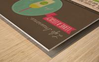 Infographic Wood print