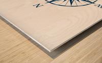 COMPASS ROSE Wood print