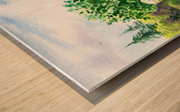 Strolling In The Garden Wood print